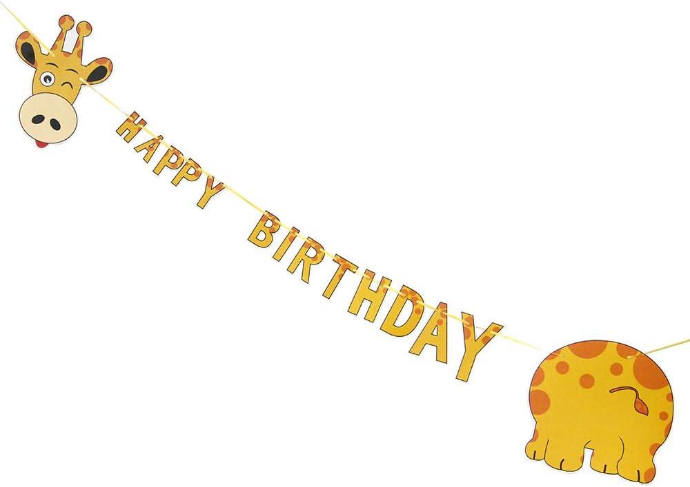 2 PERSONALISED Giraffe 1st Birthday Banner X2 Party Decorations Boys Girls Kids