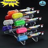Magicdo® 8 Cols Chalk Marker with Free Pen-holder, Window Marker 6 mm, Bright Neon Liquid Chalk Premium Artist Quality Marker Pen, Liquid Chalk Marke, Whiteboard, Colored Pen, Highlighters (8 Cols) by Magicdo