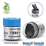 thermal conductive grease - Cpu Thermal,20G Thermal Grease,8.8w/m.k Cpu Cooling Paste,Cpu Thermal,Cpu Grease,Thermal Conductive Grease Paste For GPU/CPU/VGA/IC/LED (Silver)