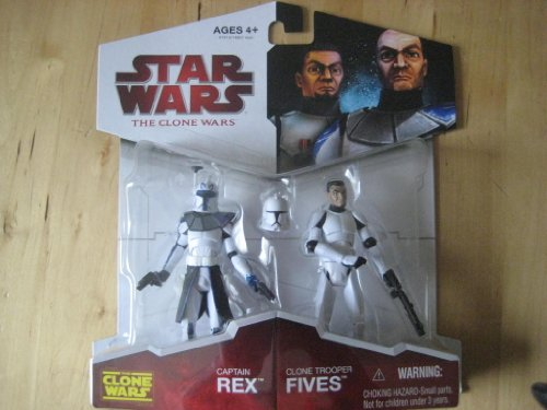 Star Wars: The Clone Wars Exclusive > Captain Rex & Clone Trooper Fives Action Figure 2-Pack -