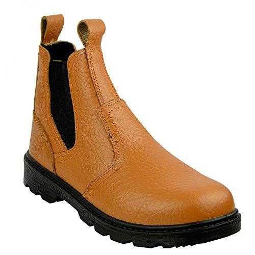 Truka Footwear Kick Steel Builder On Toe Pull Cap Boots Mens Tan gBqFPTFw