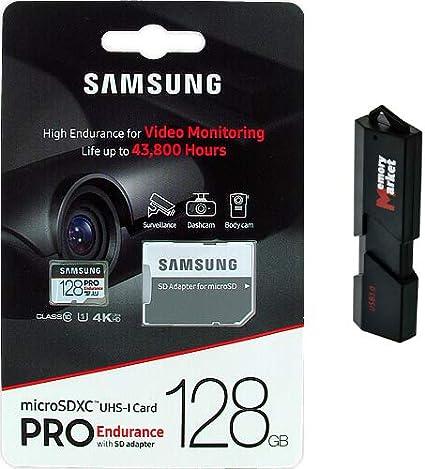 Samsung Pro Endurance 128GB MicroSD HC Memory Card UHS-I for Lenovo Zenfone Z5S Z6 Pro K6 S5 Pro GT Enjoy Tab V7 with USB 3.0 MemoryMarket Dual Slot MicroSD /& SD Memory Card Reader