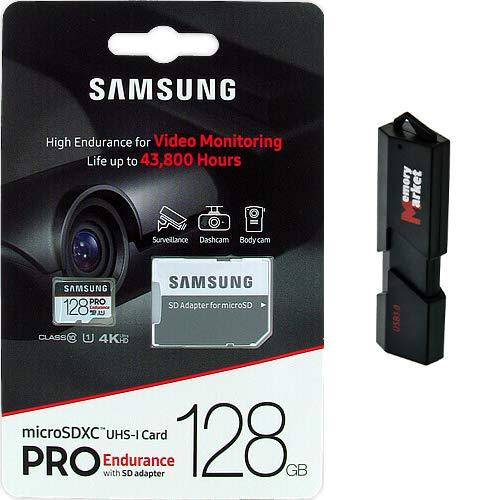 Samsung Pro Endurance 128GB MicroSD HC Memory Card UHS-I for Lenovo Zenfone Z5S Z6 Pro K6 S5 Pro GT Enjoy Tab V7 with USB 3.0 MemoryMarket Dual Slot MicroSD & SD Memory Card Reader