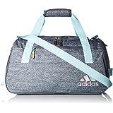 adidas Squad III Duffel Bag, One Size, Clear Aqua/Onix/Sun Glow