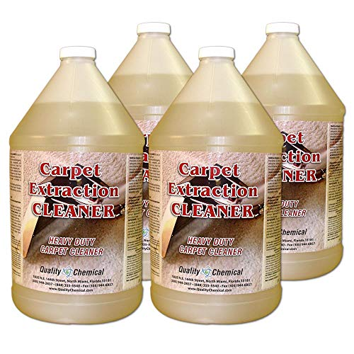 (Commercial Carpet Extraction Cleaner and Shampoo. Heavy-duty carpet cleaner for use in all extraction type machines.-4 gallon case)