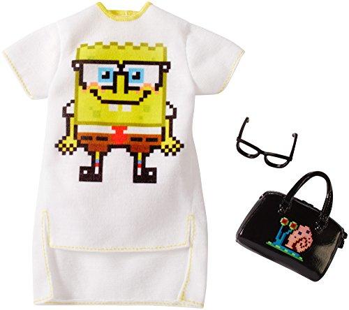 (Barbie SpongeBob White Dress Fashion Pack)