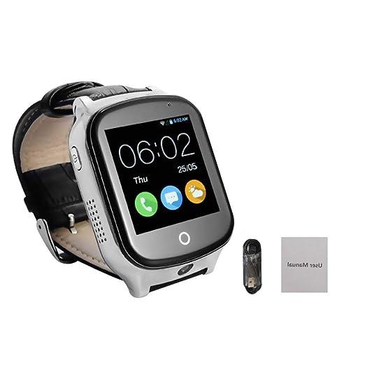 Posicionamiento GPS Reloj De Seguimiento Móvil 3G Tarjeta De Reloj Reloj Teléfono Inteligente Anti-perdida para Viejo Hombre Niño: Amazon.es: Relojes