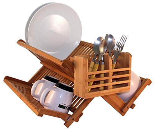 Totally bamboo premium collapsible dish drying rack extra large capacity for maximum storage - Dish rack for small space collection ...