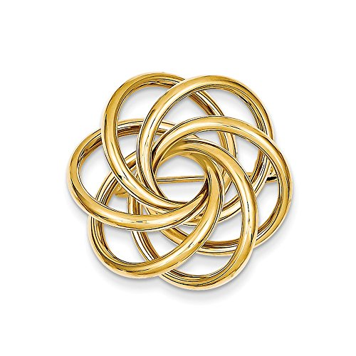 14k Solid Yellow Gold Circle Pin by Mia Diamonds and Co.