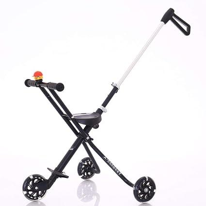 Tres ruedas Cochecitos Carro de bebé,Doble pedal del ...