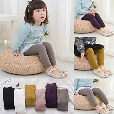 Infant Toddler Girl Boy Solid Knit Footless Leggings Tights Socks Stcoking Long Pants Fall Winter Clothes Outfits