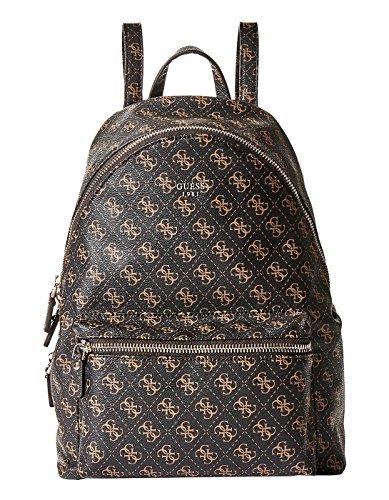 embossed Brown bag Guess Brown logo q6BXxwR