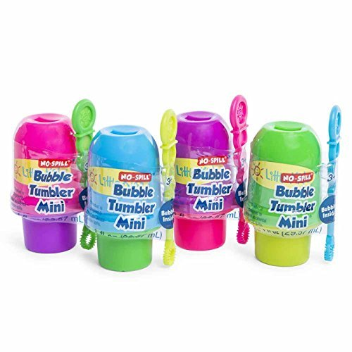 Set of 4 Little Kids No Spill Bubble Bucket Outdoor Spring Summer Play Time Children Toddlers Mini Boys Green Blue Purple & Pink