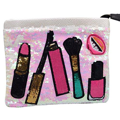Orfila Envelope Handbag for Crossbody Patchwork Sequin White Shoulder Purse Bags Women Bag Clutch Fashion Wristlet qCqrw