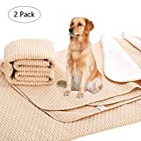"""NeatoTek 2 Pack Reusable Waterproof Dog Pet Pee Pads. Anti Slip Large Size(39"""" x 31"""") Reusable and Washable, Waterproof and Fast Absorbing"""