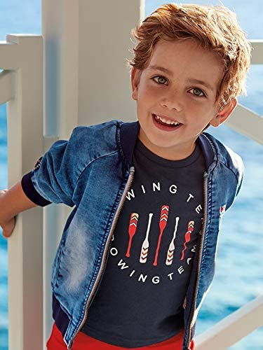 2 t-Shirts Set l//s and s//s for Boys 3076 Mayoral White