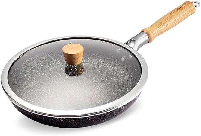Couvercle en verre électrique poêle sans huile cuisson saine//Griller Non-stick poêle
