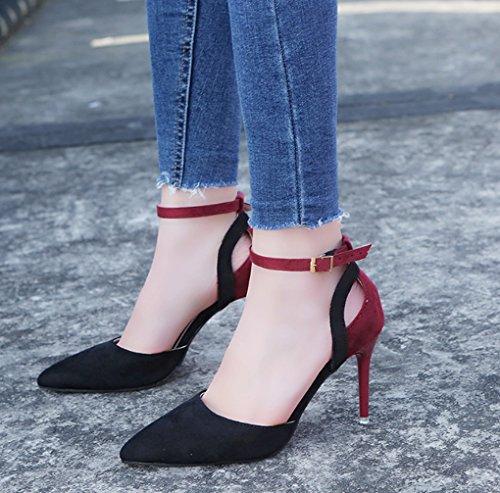à mode à Chaussures Couleur taille hauts LBDX talons hauts Chaussures talons mince femmes sandales Printemps 39 pour Nightclub Automne Sexy Pointu 2 2 et 7SSZ5w