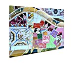 Ashley Giclee Metal Panel Print, Close Up Mosaic Detail Of A Ceramic Tiled Bench In Park Guell Barcelona Spain, 16x20