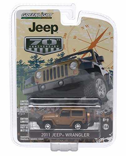 70th Anniversary Series (2011 JEEP WRANGLER (Bronze Star Pearl) * Jeep 70th Anniversary * 2015 Greenlight Collectibles Anniversary Collection Series 2 Limited Edition 1:64 Scale Die-Cast Vehicle)