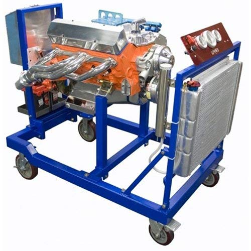 PRW 1300111 Blue Powder Coat Base Unit and Accessory Kit Racing Steel Engine Test Stand (ETS) with Metric ()