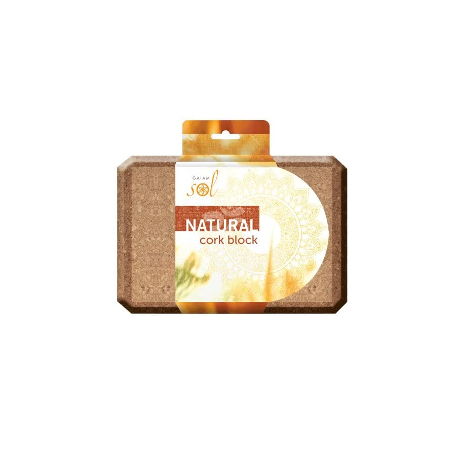 Gaiam Sol Natural Cork Yoga Block