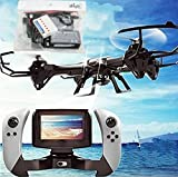 WayIn® U818S-WIFI818 6-Axis GYRO RC Quadcopter with FPV Camera/Remote Control Black and Extra Batteries set