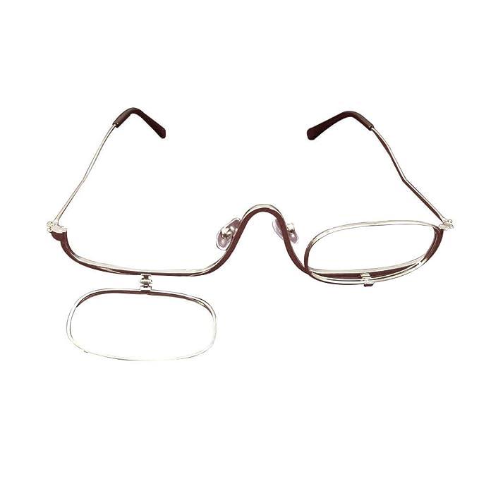 b2621415359724 Inlefen Femmes lunettes de lecture grossissant maquillage lunettes, lentille  unique, Flip-able chaque côté application cosmétique  Amazon.fr  Vêtements  et ...