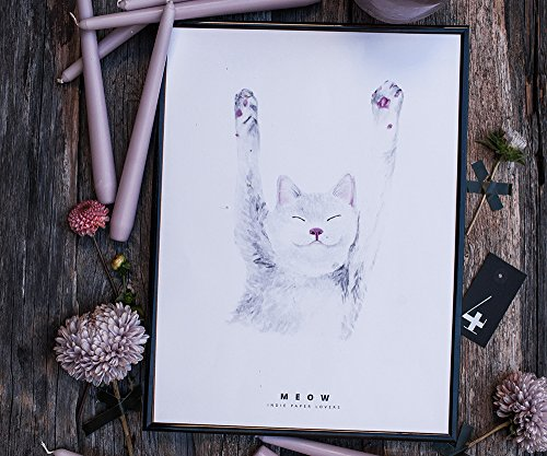 Cat poster - modern wall decor for kids room