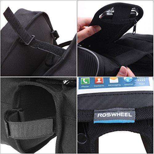 Aulei Bicycle Front Top doppelte Seiten Tube Frame Bag Oberrohr Transparente PVC lenkertasche Fahrradtasche im freien reisen