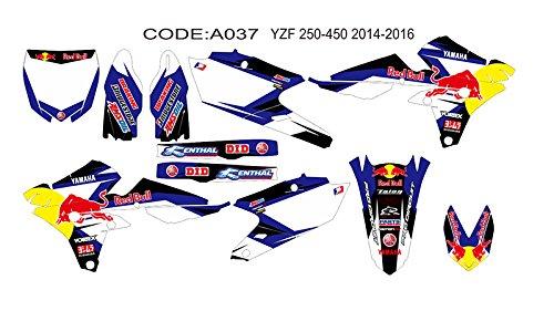 DOG RACING DESIGN A 037 YAMAHA YZF 250 450 2014 2015 2016 GRAPHIC KIT