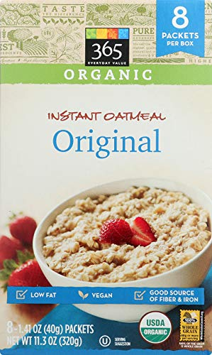 365 Everyday Value Organic Instant Oatmeal Original 8 Pack, 11.29 OZ