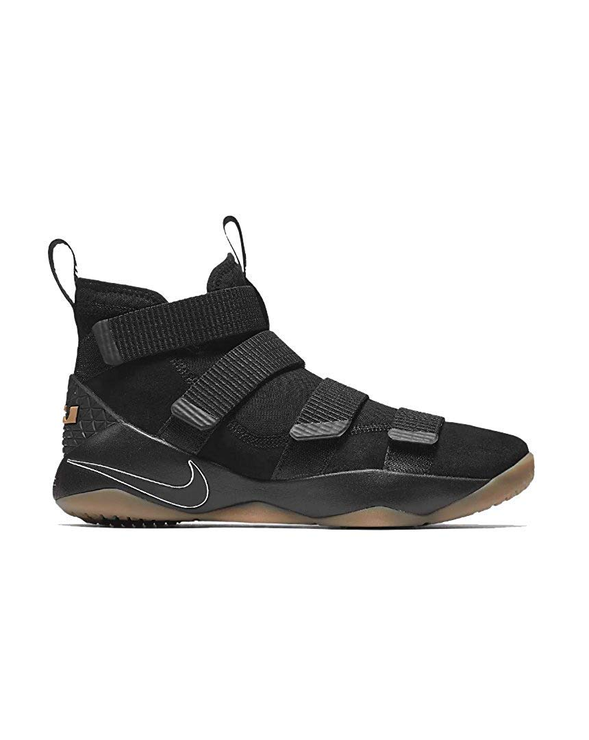 size 40 006b4 ae240 NIKE Lebron Soldier Xi Basketball Shoes Lebron James Black/Black-Gum Light  Brown New 897644-007 - 11