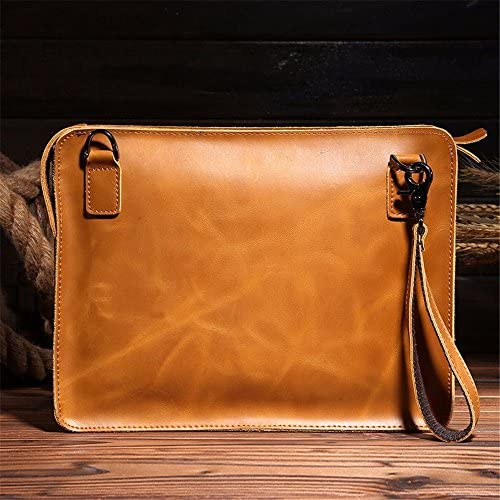 WanJiaMen'Shop Männliche Vorhaut männlicher Pack Umhängetasche Messenger Bag Leder Dokument Messenger Tasche, 32 x 4 x 24 cm