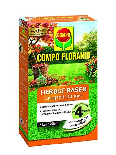 COMPO FLORANID® Herbst-Rasen Langzeit-Dünger 3 kg für 120 m²