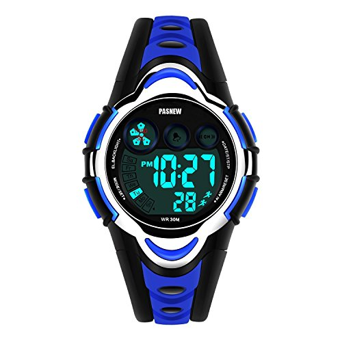 Kid Watch Multi Function Digital LED Sport Waterproof Electronic Quartz Watches for Child Boy Girls Gift Blue