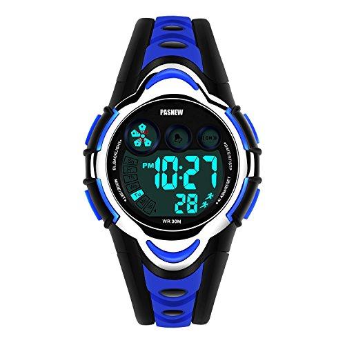 Kid Watch Multi Function Digital LED Sport Waterproof Electronic Quartz Watches for Child Boy Girls Gift Blue