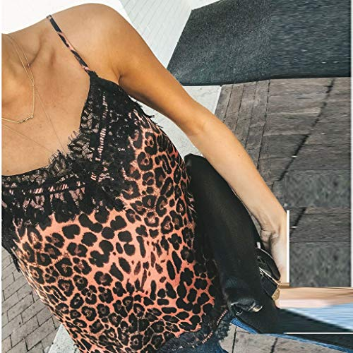 Zolimx Zomer Tops shirts Fitness Top Fit Mouwloos Sexy Rood Vest Dames T Kant xl Sport s Grote Size Casual Bretels Leopard ~ wF6w0tnf