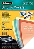 Fellowes  53762 - Pack de 100 Couvertures PVC A4 240 Microns Transparent