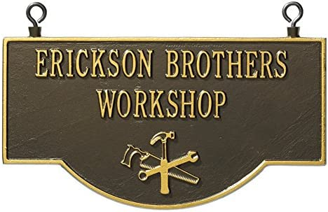 Custom Indoor//Outdoor Aluminum Wall Sign Whitehall Personalized House Plaque