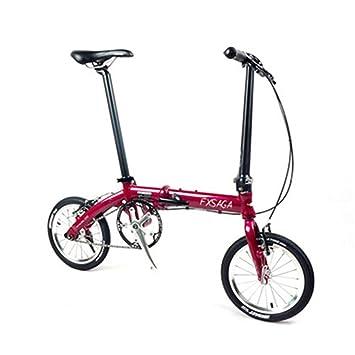 """akssweet 14 """"ligera bicicleta de velocidad única, moda plegable Ciudad bicicleta rojo/"""