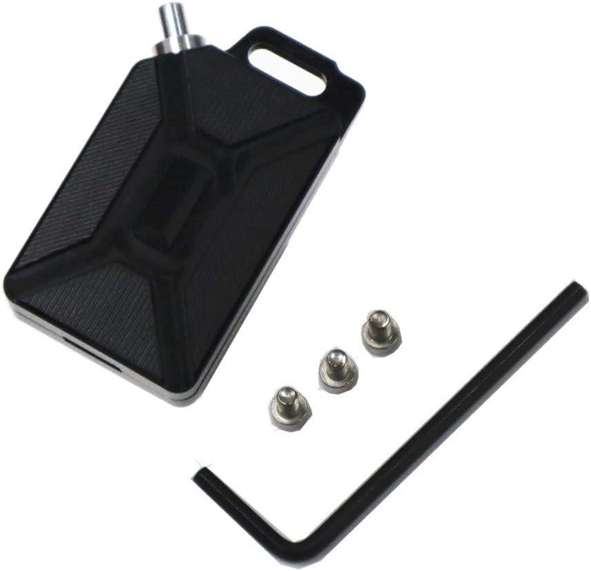 Silver 3D CNC Oil Tank Shape Motorcycle Key Head Cover Keychain Head