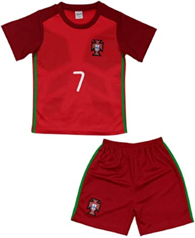 Ensemble De Foot Maillot Short Portugal Taille De 4 à 14 Ans 10 Ans Rouge Amazon Fr Vêtements Et Accessoires