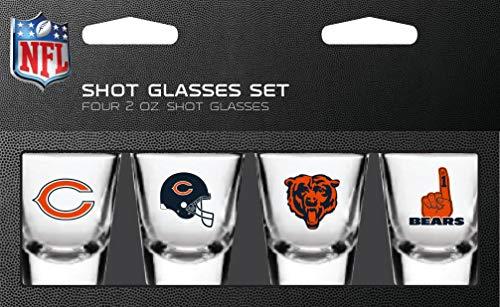 NFL Chicago Bears Shot Glass Set4 Pack