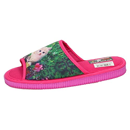 MADE IN SPAIN 302-821 Zapatillas Gato CASA Mujer Zapatillas CASA Fuxia 40: Amazon.es: Zapatos y complementos