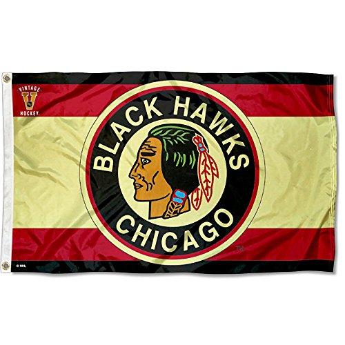 - WinCraft Chicago Blackhawks Vintage Throwback Flag