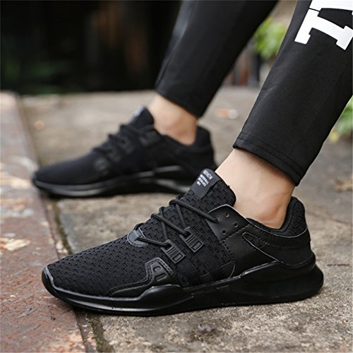 Negro Padel Interior y de D Zapatillas UBFEN Fitness Gimnasio Casual Exterior Deportes Running para Deportivas Hombres Zapatos de Correr Sneakers g1HwR
