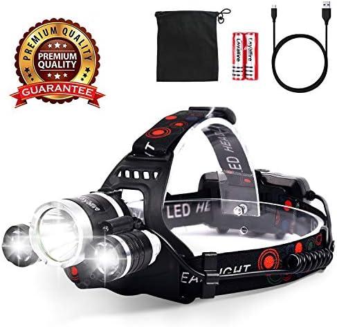 Loyalfire Waterproof Headlight Flashlight Rechargeable product image
