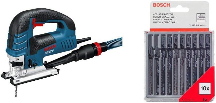 Bosch Professional GST 150 BCE - Sierra de calar, profundidad corte 150 mm, en maletín, 780 W + Bosch 2607010146 - Cuchilla de sierra caladora (pack de 10): Amazon.es: Bricolaje y herramientas