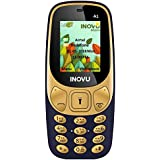 Inovu A1 Dual SIM Basic Mobile Phone (Blue-Gold, Upto 32GB)